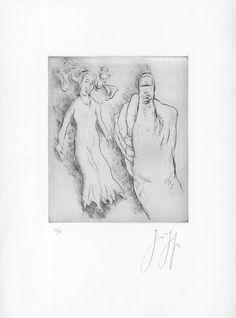 Original Art at Zalarte.com -Däumelinchen by Günter Grass | 50,5' h x 35' w