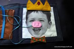 """Too cute and crafty! A diy book to keep the kids busy. Bring out pieces from the """"suitcase"""" to place on picture. A diy disguise kit :o)  #FBI"""