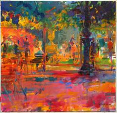 Peter Graham, La Terrasse du Jardin (oil on canvas)
