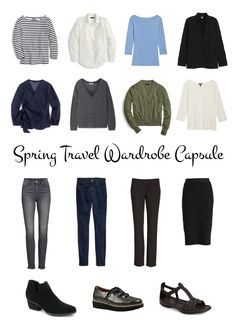 If you have travel planned this spring and want to pack lighter and smarter, here's a travel wardrobe capsule to help you get started. Details at une femme d'un certain age.