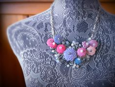 Flower Power Necklace Floral Flower by SimpleCreationsBySam, $35.00