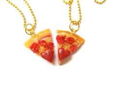 When your best friend necklace choices reflect your favorite food (PIZZA!) and biggest period craving.