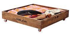 rolling wooden toy storage idea