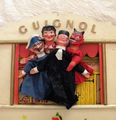 Vintage Guignol French Puppet Theatre from the shop, Lapomme on Etsy.