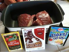 """London Broil Crockpot Recipe ~ made and it's so delicious and super easy! I used a 1.25lb London broil, but there's plenty of """"gravy"""" for a bigger piece of meat."""