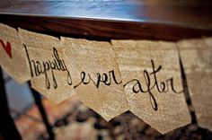 happily ever after burlap banner