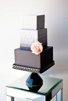 Modern wedding cake...in shades of grey