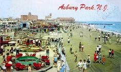 The Boardwalk - Asbury Park, NJ — Vintage Asbury Park Countries Around The World, Around The Worlds, Albion Hotel, Asbury Park Boardwalk, Big Ride, The 'burbs, Vacation Memories, Beach Images, Park Homes