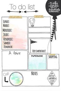 tâches, planification, efficace