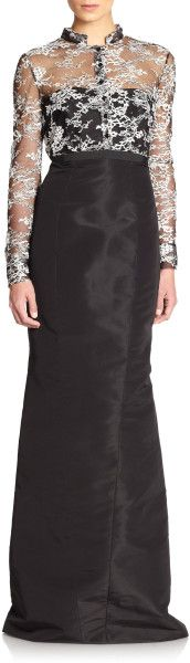 Laceoverlay Evening Gown - Lyst    jaglady