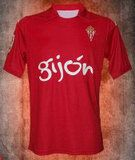 Sporting Gijon 2015-2016 Season Away Red Soccer Jersey Shirt [B332]