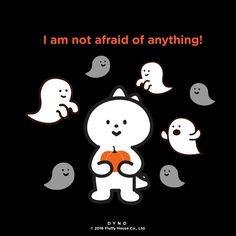 I am not afraid of anything! #halloween #fluffyhouse #dyno