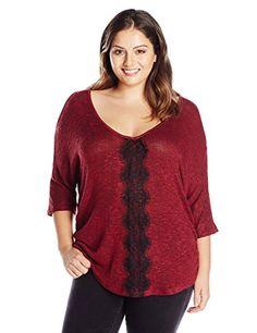 8cc5a1fd162 Jessica Simpson Women s Plus-Size Rochelle Pullover Sweater