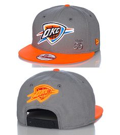 438b4d2021a NEW ERA Basketabll snapback cap OKC Thunder embroidered logo on front of hat  Kevin durant 35 stitchi.
