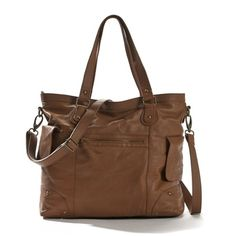 i want this bag so much -- Leather Bag with Detachable Shoulder Strap