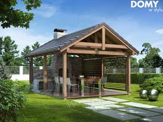 Things I want Gazebo On Deck, Backyard Pavilion, Outdoor Pavilion, Outdoor Gazebos, Backyard Patio, Backyard Landscaping, Outdoor Structures, Pool House Decor, Backyard Fireplace