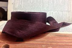 """1-1/2"""" chocolate mocha brown silk ribbon - Shy Myrtle (US) - 1 yard/$2.00"""