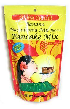 HAWAIIAN PANCAKE MIX-BANANA MACADAMIA NUT FLAVOR-BY ALOHA SUNSET  #DoubleBrushContest http://store.doublebrush.com/candy-mac-nuts/