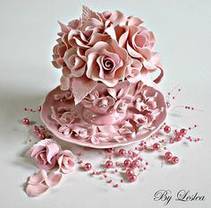 Pink couture cupcake