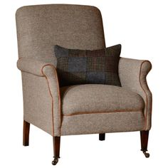 This Harris Tweed Armchair is part of our Tetrad Collection - British Made Tweed furniture - View this Designer Armchair today at Barker and Stonehouse Adirondack Chair Plans, Polywood Adirondack Chairs, Outdoor Furniture Chairs, Upholstered Dining Chairs, Furniture Ideas, Reupholster Furniture, Chair Upholstery, Chair Cushions, Tartan Chair