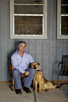 Tito and distillery dog Roscoe