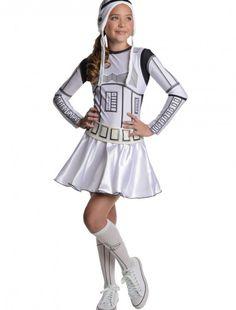 Storm Trooper Tween Dress Costume, halloween costume (Storm Trooper Tween Dress Costume)