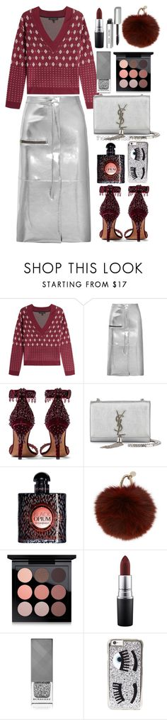 """""""Golden goose"""" by thestyleartisan ❤ liked on Polyvore featuring rag & bone, Golden Goose, Givenchy, Yves Saint Laurent, Yves Salomon, MAC Cosmetics, Burberry, Chiara Ferragni and Bobbi Brown Cosmetics"""