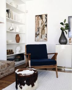 Mid-century armchair / Everyday Glam In The Fabulous Home of Kyla Herbes
