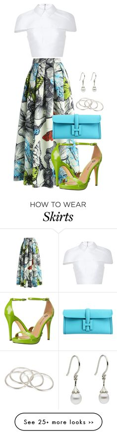 """printed maxi skirt #3"" by annyshley on Polyvore"