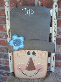 wood scarecrow | Personalized Scarecrow Sign Fall Decor by SassySouthernCharm