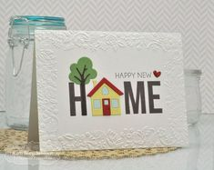 Joyful Creations with Kim: TE Sneak Peeks Day A Welcoming Home. New products available Welcome Home Cards, New Home Cards, House Of Cards, Housewarming Card, Happy New Home, Watercolor Cards, Card Tags, Creative Cards, Greeting Cards Handmade