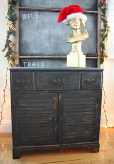 Cabinet Makeover in 30 minutes using CeCe Caldwell's Beckley Coal and Walnut Grove Stain.   REDOUXINTERIORS.COM FACEBOOK: REDOUX INSTAGRAM: REDOUXINTERIORS