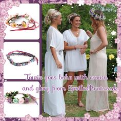Sam and billie faiers towie girls wearing crown and glory from SpoiledBrat - beautiful floral crowns