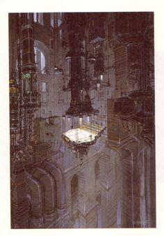 thanksomuch:    Jean Giraud, alias Moebius    Architecture & Fantasy | Moebius (Jean Giraud)