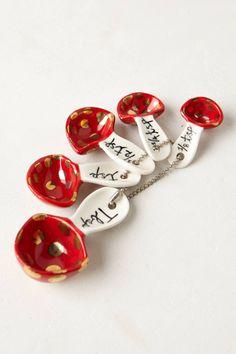Mushroom Measuring Spoons - On Sale $9.95 NOW. #anthrofav