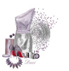 """Glittery Glam"" by duci ❤ liked on Polyvore featuring Jimmy Choo, Nails Inc., Yves Saint Laurent, Vika Gazinskaya, Christian Louboutin, Blue Nile, MAC Cosmetics, Urban Decay, Benefit and Topshop"