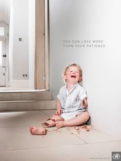 You can lose more than your patience. Publicidad creativa en contra del maltrato infantil.