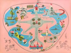 vintage disneyland Placemat