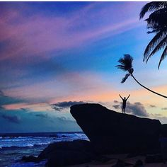 Chasing for Sunset  #SriLanka  Photo @chanuh_  #TravelSriLanka #VisitSriLanka #Sunset #SriLankaBeach #Rock #Nature #Beach #instatravel #instadaily #instanature #travel #tour #holiday