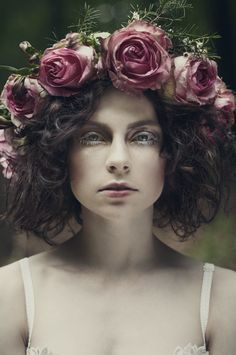 From a Forgotten Tale by Catrine Zorn, via Behance Forest Elf, Fine Art Photography, Photography Flowers, Art Tutorials, Photoshoot, Makeup, Model, Maids, Enchanted