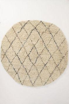 Flokati Diamonds Rug, Round #anthropologie. I could duplicate this