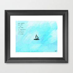 Flying jangada Framed Art Print by Escrevendo e Semeando - $35.00