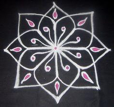 Vanathi's Rangoli: Simple Rangoli 4 - For Beginners