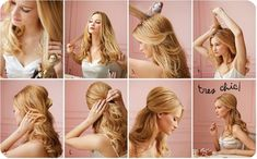 Half Up and Half Down Long Prom Hairstyle step by step tutorial