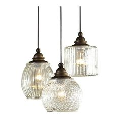 Pendant Ceiling Lighting Fixture, Hanging Glass Lamp, Modern Craftsman Lights…