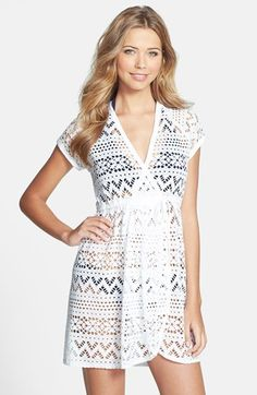Robin Piccone 'Penelope' Crochet Wrap beach cover-up available at #Nordstrom $98 - McCall's 6744
