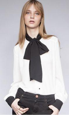 15 Tie Front Blouses: Pixie Market Marmont Blouse.