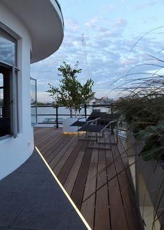 Modern roof terrace