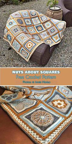 35-Square Blanket - Nuts about Squares CAL [Free Crochet Pattern] #freecrochetpatterns #nutsaboutsquares #square #crochetblanket