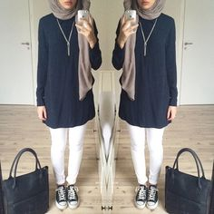My favourite hijab style Islamic Fashion, Muslim Fashion, Modest Fashion, Hijab Fashion Inspiration, Mode Inspiration, Hijab Dress, Hijab Outfit, Mode Outfits, Fashion Outfits